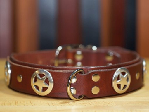 Cool Leather Dog Collars, Designer Leather Dog Collars, KobiCollars