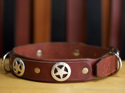 Leather Dog Collars, leather dog collars personalized, KobiCollars