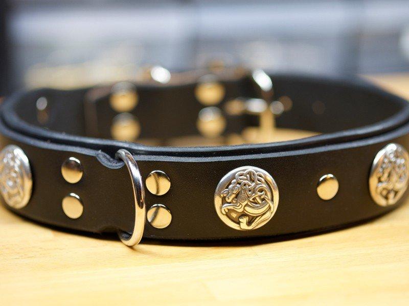 Designer Leather Dog Collars, Leather Dog Collars Accessories, leather dog collars personalized, KobiCollars