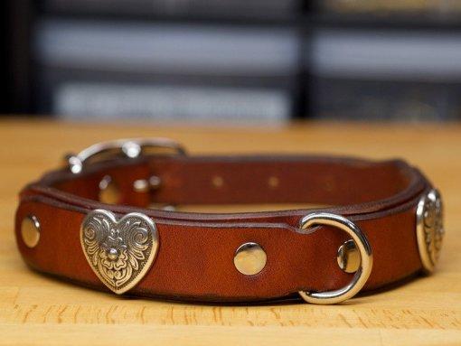 Diablo Heart Dog Collar by Kobi Collars