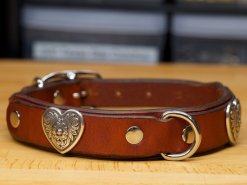 Premium double-layer leather dog collar