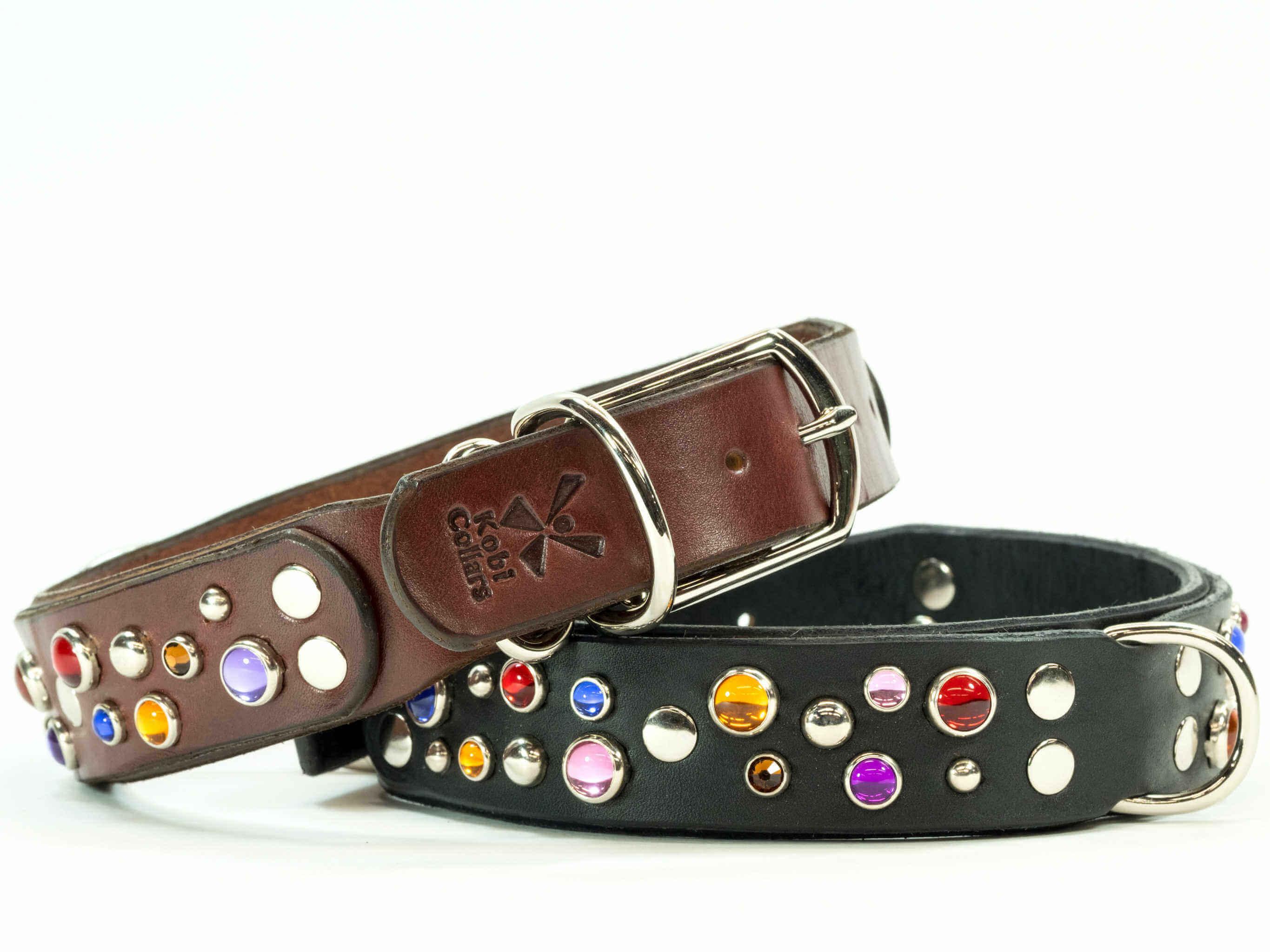 Black Sparkle Dog Collars