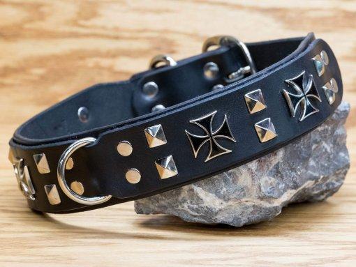 Maltese cross custom dog collar